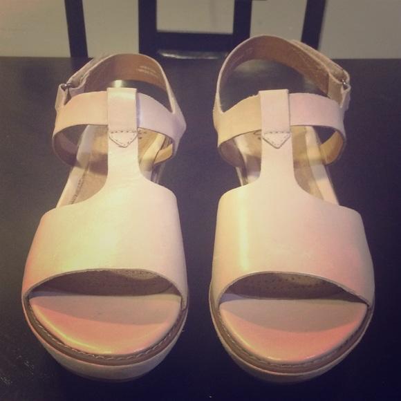 0afaaf89efc0 Clarks Nude Platform Sandals   Heels